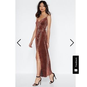 Nasty Gal | That's Rich Velvet Maxi Wrap Dress 6